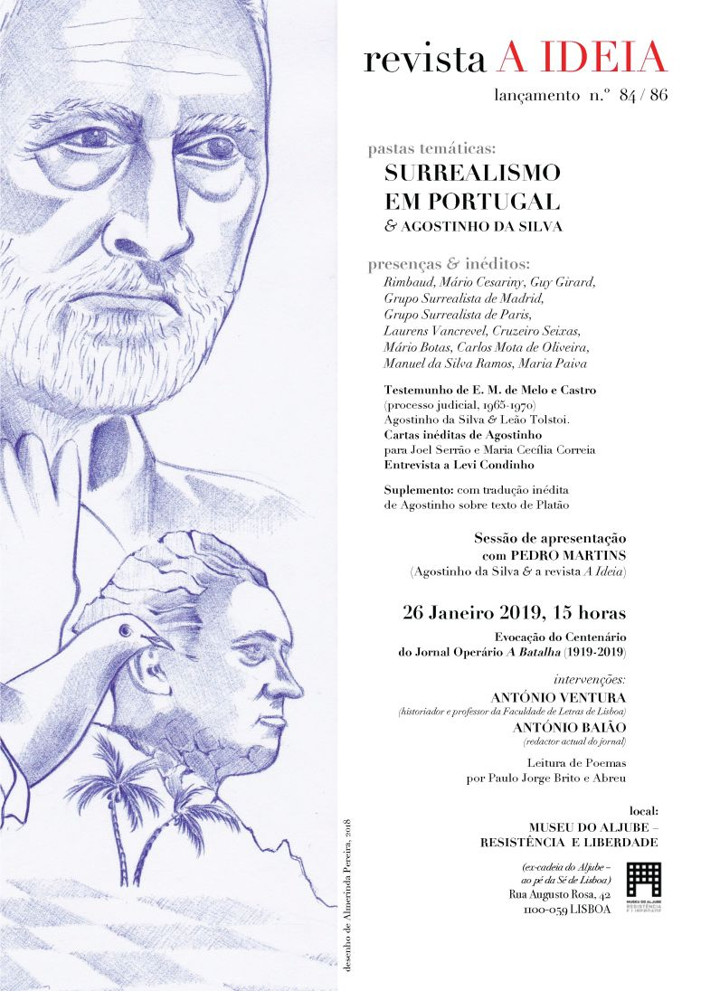 Cartaz do lançamento d A Ideia, 84-86
